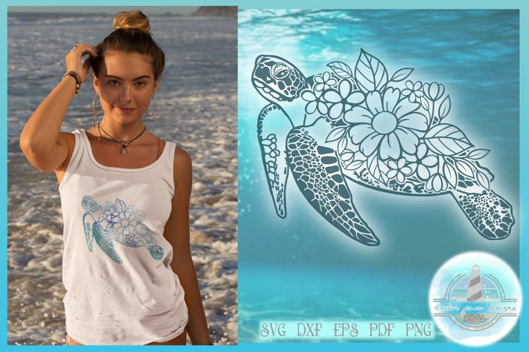 Floral Turtle Shell   Flower Mandala Zentangle SVG - Free Design of The Week Design0