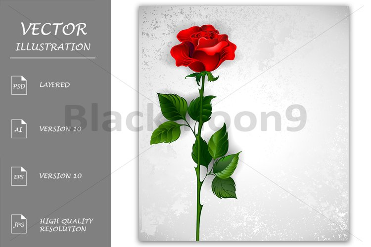 Straight Red Rose example image 1