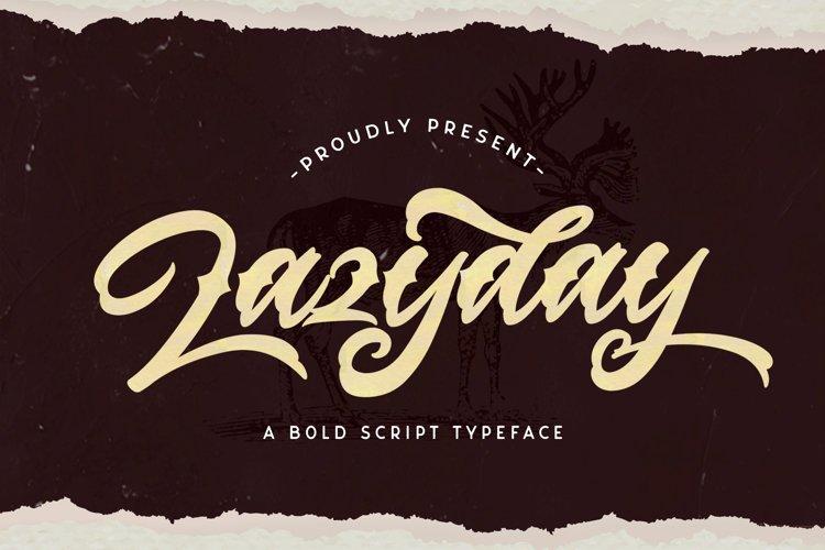 Lazyday - Bold Script Font example image 1