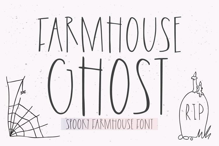FARMHOUSE GHOST Halloween Font example image 1