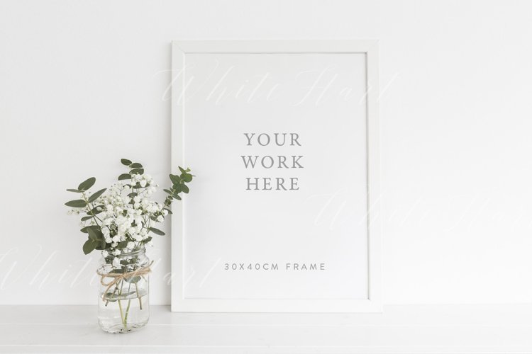 A3 frame mockup with greenery styling