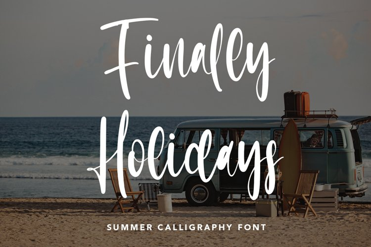 Finally Holidays - Summer Calligraphy Font example image 1