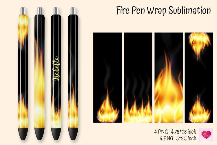 Fire Pen Wrap Sublimation. Fire Waterslide Pen Wraps example image 1