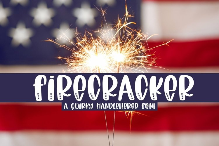Web Font Firecracker - A Quirky Handlettered Font example image 1