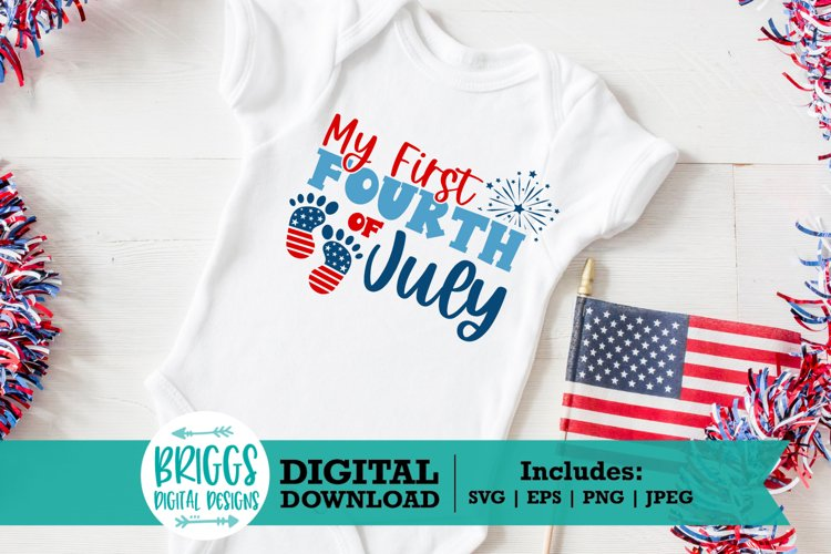 Baby First 4th of July SVG   Independence day, red white and example