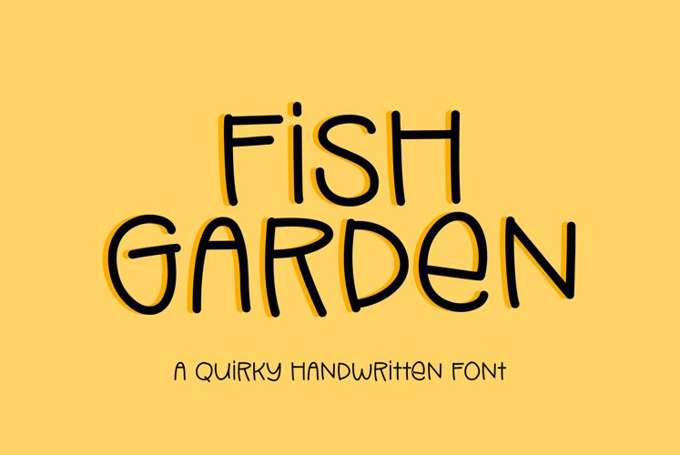Fish Garden - a quirky handwritten font example image 1