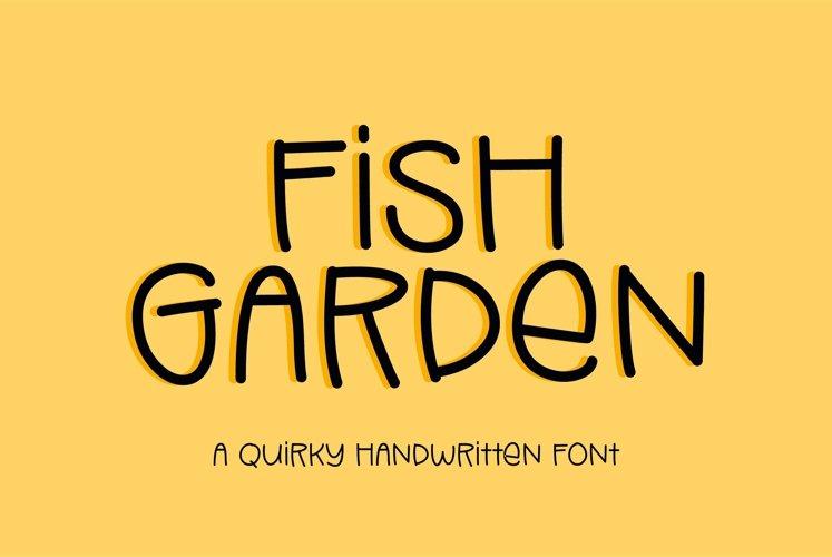 Web Font Fish Garden - a quirky handwritten font example image 1