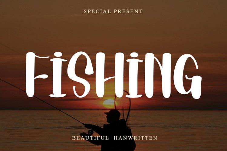 Fishing   Beautiful Handwritten Font example image 1
