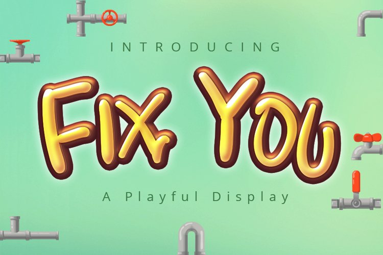 Fix You   A Display Typeface example image 1