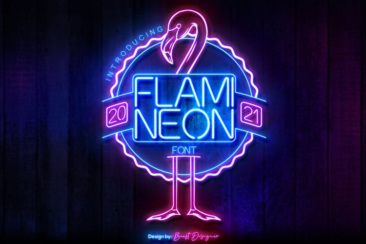 Flami Neon Font example image 1