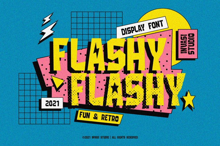Flashy | Retro & Fun example image 1