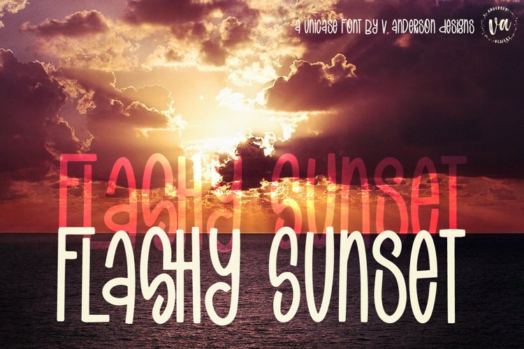 Flashy Sunset | A Handwritten Unicase Font example image 1