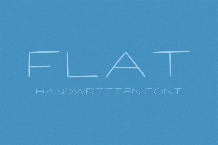 Flat handwritten font