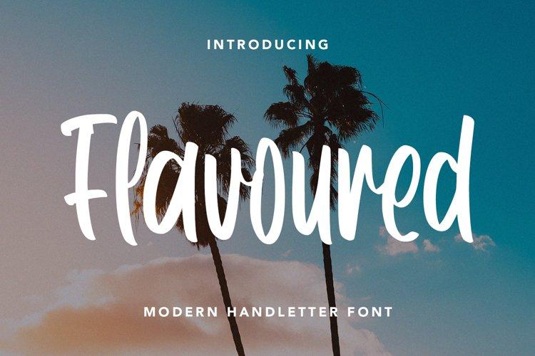 Flavoured - Modern Handletter Font example image 1