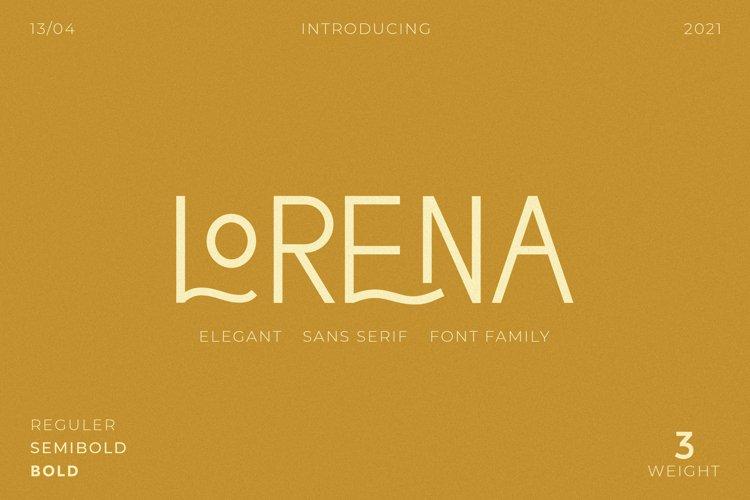 Lorena - Elegant Typeface