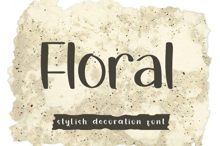 Floral | Stylish Decoration Font example image 1