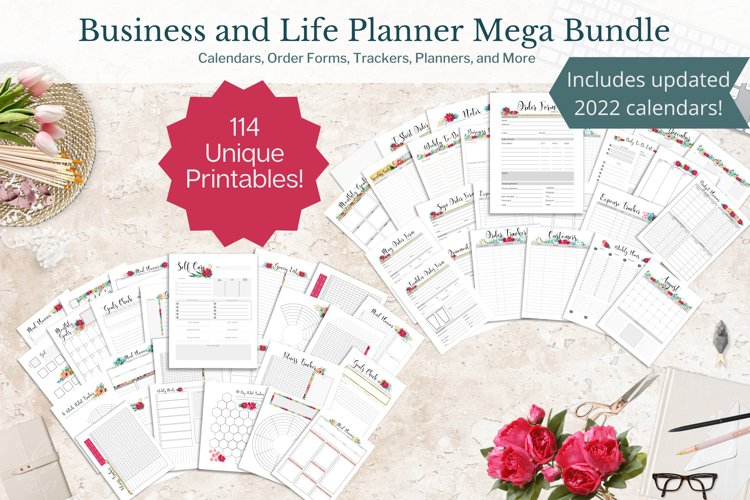 Business and Life Weekly Planner Printable PDF Mega Bundle