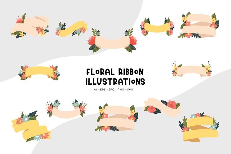 Floral Ribbon Illustrations