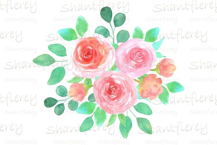Watercolor Floral Sublimation, Floral Arrangement PNG, Roses