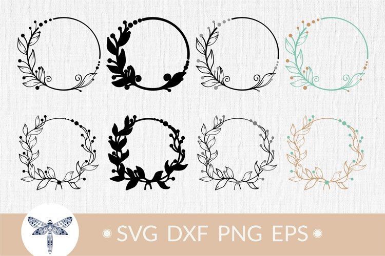 Floral wreath svg, leaf wreath, wedding wreath svg bundle