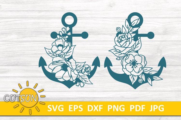 Flowers Anchor SVG | Floral Anchor SVG