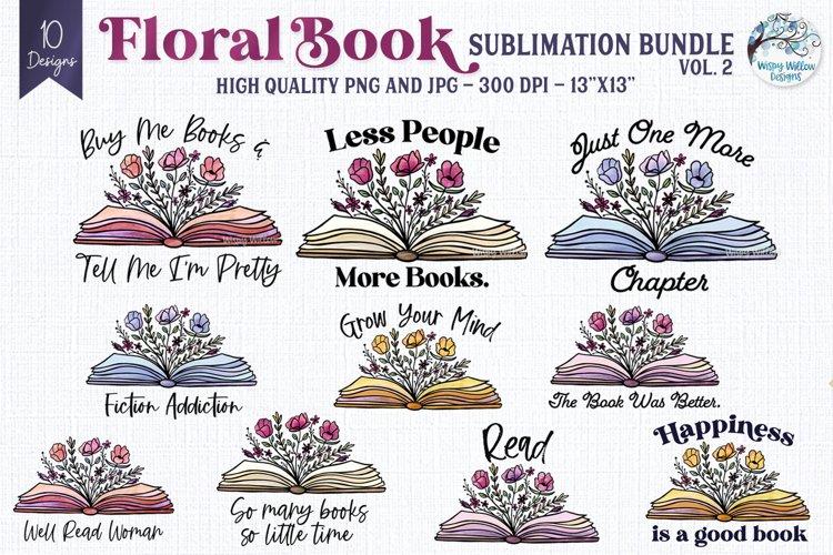 Floral Book Sublimation Bundle Vol 2 | Floral Book PNGs