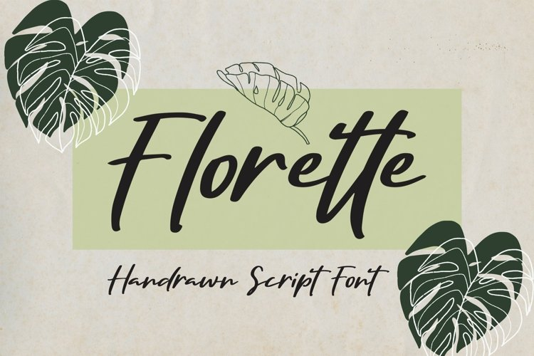 Web Font Florette - Handrawn Script Font example image 1