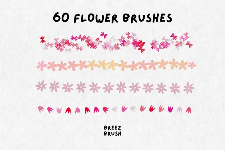 60 Flower Brushes for Procreate, Procreate Brushes Floral