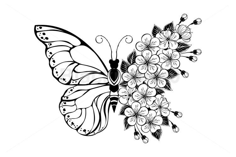Flower Butterfly with Sakura