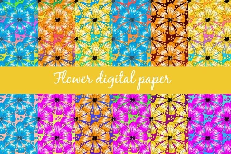 Flower digital paper, sublimation design PNG