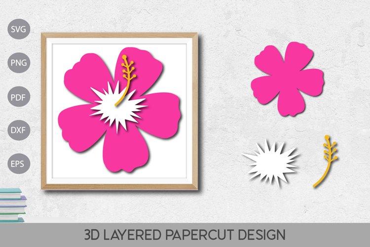 Flower 3D Layered Paper Cut Design