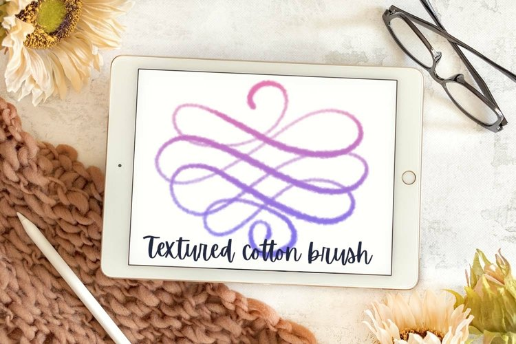 Fluff - A textured lettering brush for Procreate example