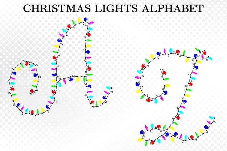 Christmas Alphabet SVG, Christmas Lights SVG, Christmas SVG