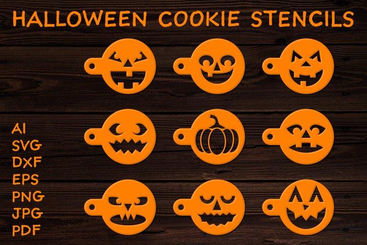 Halloween Cookies Stencil SVG. Pumpkin SVG. Halloween SVG