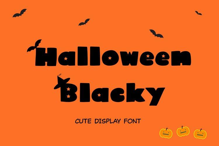 Cute Display Font - Halloween Blacky example image 1
