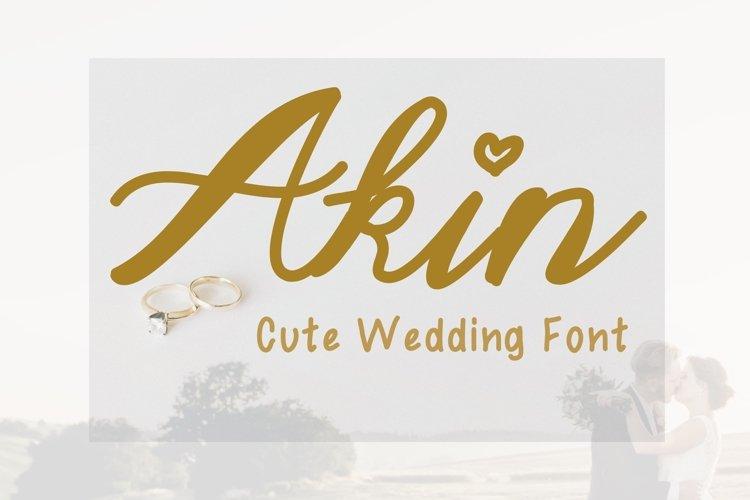 Cute Wedding Font - Akin example image 1