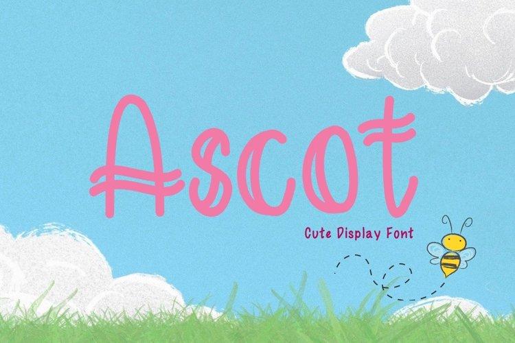 Cute Display Font - Ascot