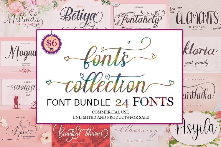 24 Font calligraphy - Bundle example image 1