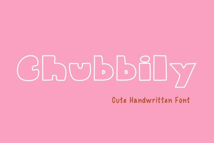 Cute Handwritten - Chubbily example image 1