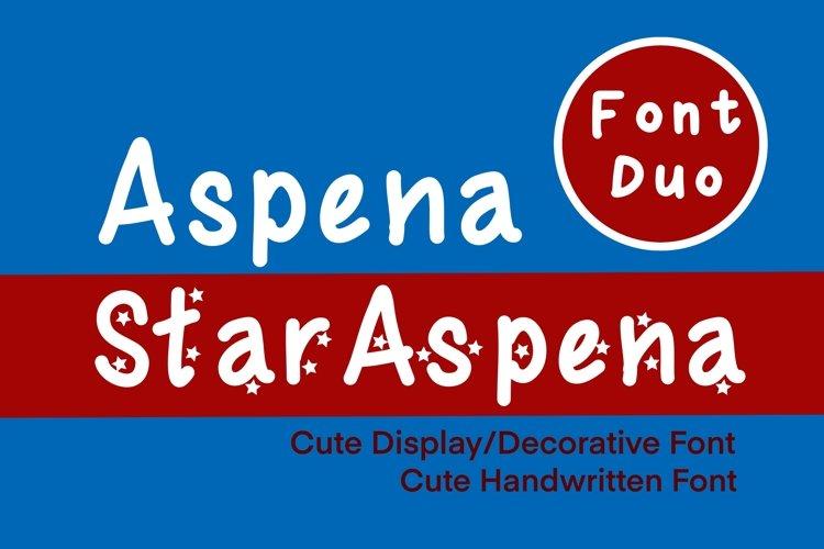 Cute Display Font Duo - Star Aspena and Aspena example image 1