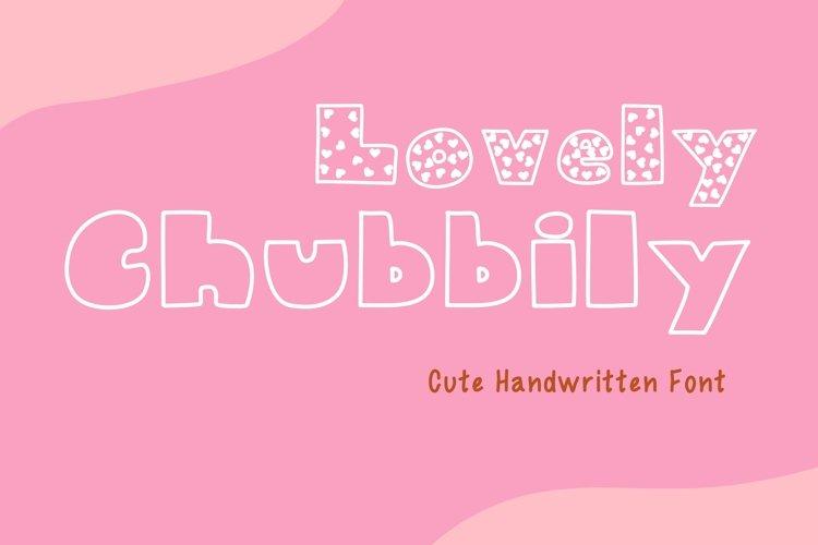 Cute Handwritten - Lovely Chubbily example image 1