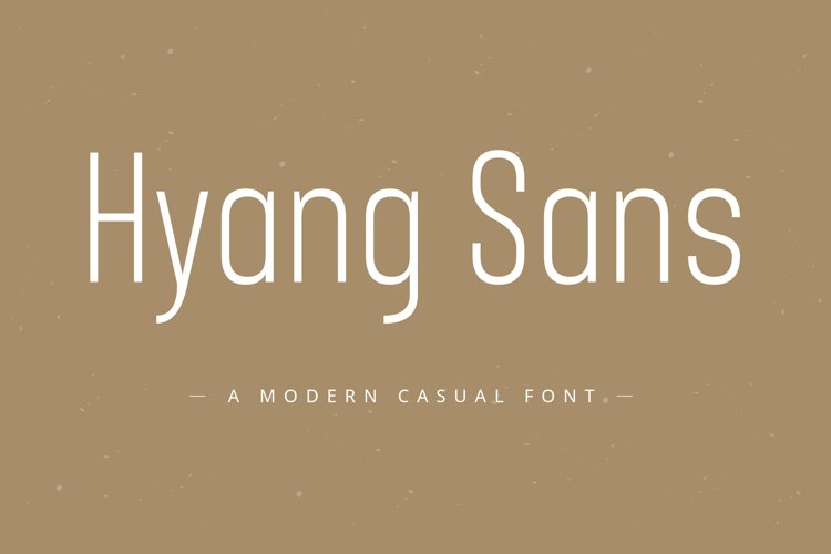 Hyang Modern Sans Serif Font example image 1