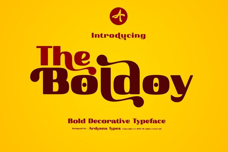 Show More Boldoy - Decorative Typeface