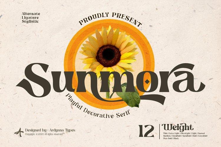 Sunmora - Playful Decorative Serif example image 1
