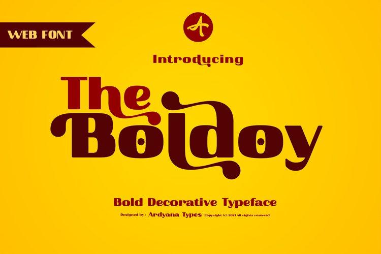Boldoy - Decorative Typeface