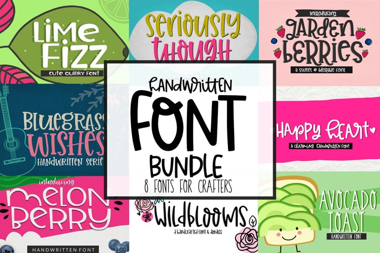 Handwritten Font Bundle for Crafters