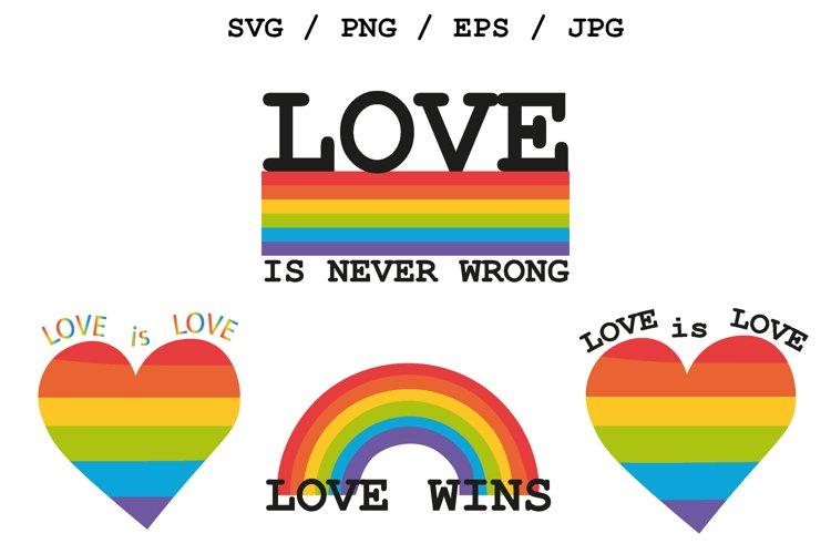 LGBT LOVE / PRIDE Sublimation SVG Files
