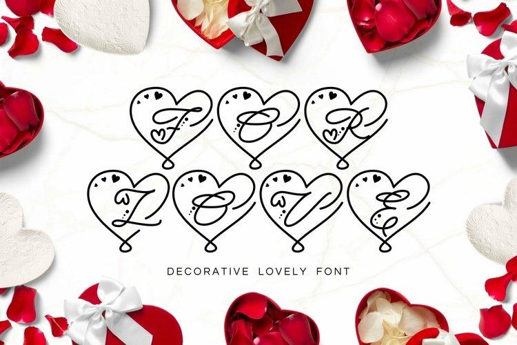 Web Font For Love - Monogram Font example image 1