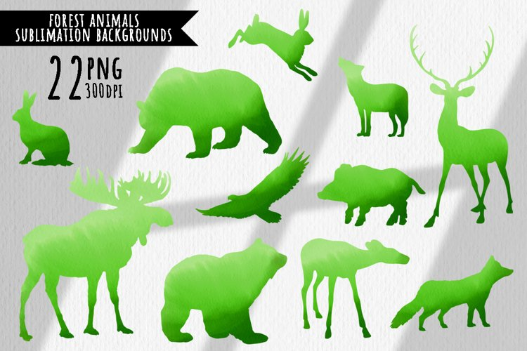 Forest animals watercolor backgrounds