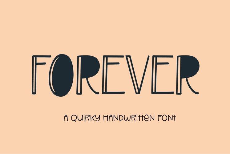Web Font Forever - a handwritten display font
